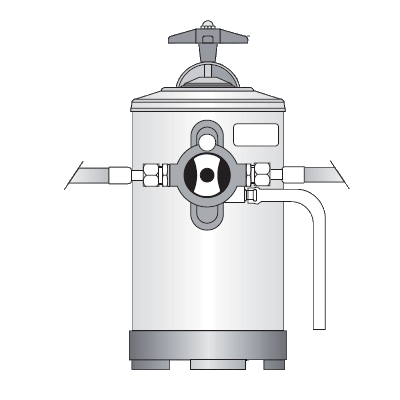 Dedurizator apă BY PASS Bezzera, 8 litri
