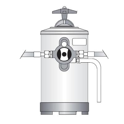 Dedurizator apă manual Bezzera, 8 litri