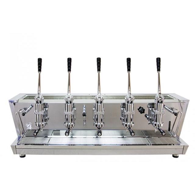Espressor profesional cu pârghie Izzo MyWay Valchiria, 5 grupuri