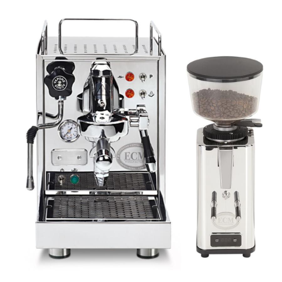 Espressor ECM Classika PID + Râşniţă de cafea ECM S-Automatik 64