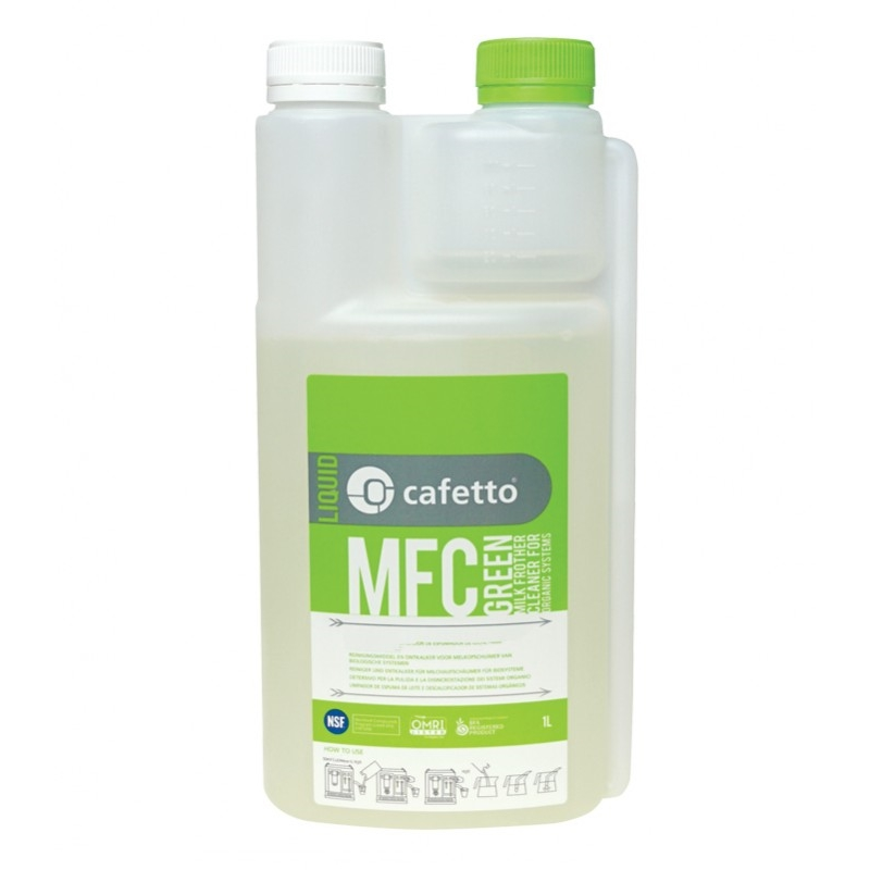 Cafetto MFC - Milk Frother Cleaner - lichid organic pentru curatarea cappuccinatoarelor (1 Litru)