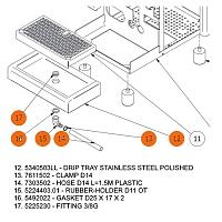 Kit de conectare la reţeaua de canalizare pentru espressoarele Bezzera Strega